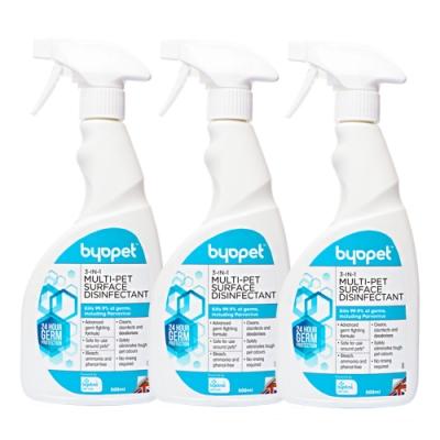英國Byopet 寵物抗菌 3合1除臭清潔噴劑500ml-8008(3入)