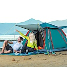 【KISSDIAMOND】豪華加大超涼爽速搭抗UV銀膠帳篷