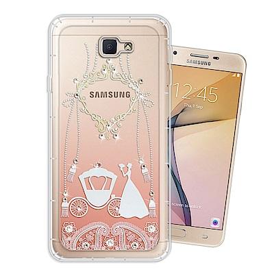 Samsung Galaxy J7 Prime 奧地利水晶彩繪空壓手機殼(精靈捧花)