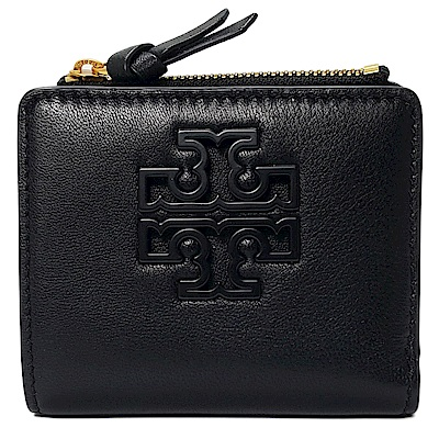TORY BURCH LILY MINI WALLET羊皮對折短夾-黑色