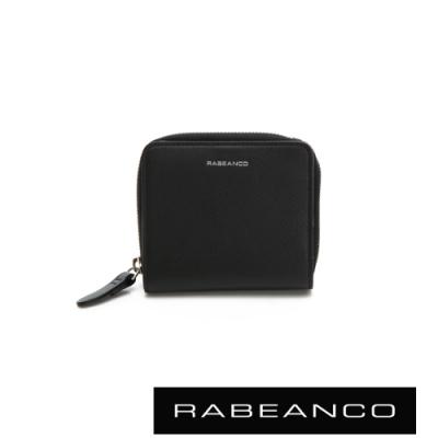 RABEANCO 迷時尚系列撞色拉鍊短夾 黑