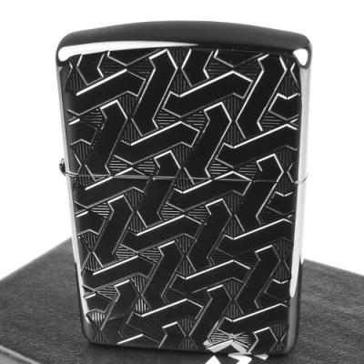 ZIPPO 美系~Geometric Weave-幾何編織圖案深刻兩面加工打火機(ARMOR裝甲)