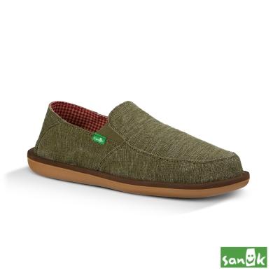 SANUK 騎士系列內格紋懶人鞋-男款(墨綠色)