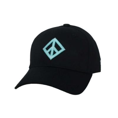 KAPPA DD52聯名球帽-遮陽 防曬 鴨舌帽 帽子 菱格世代 純棉 35151EW-XND 黑粉綠