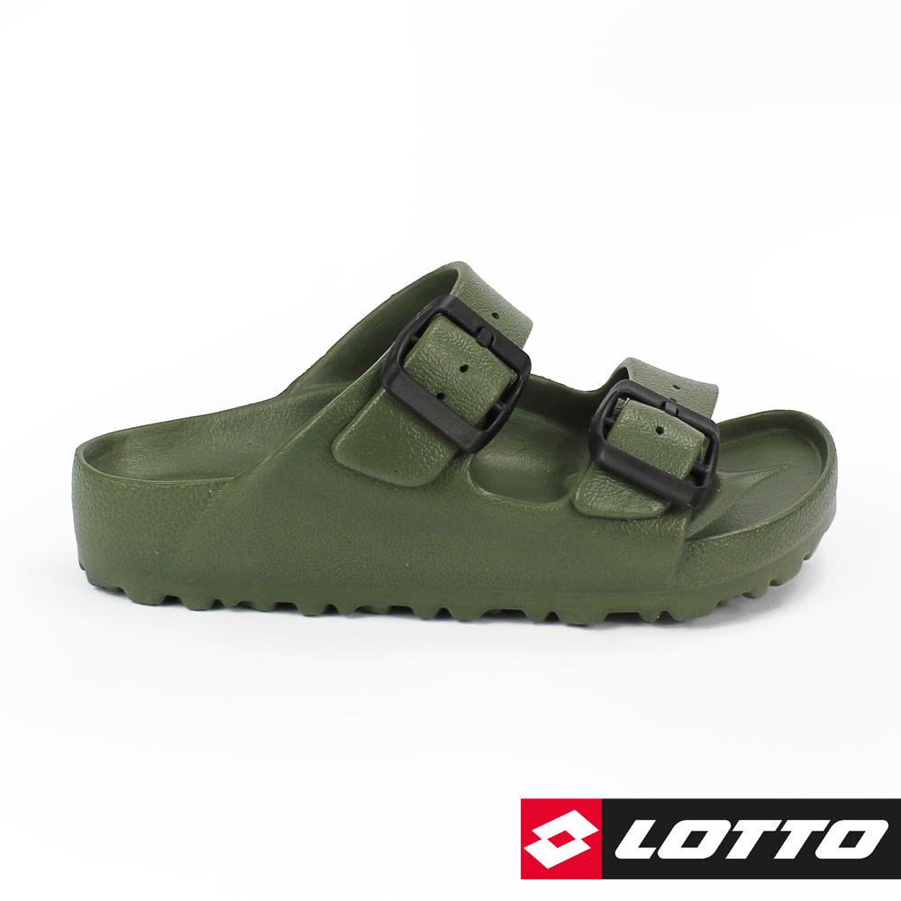 LOTTO 義大利 童 BURANO拖鞋 (軍綠)