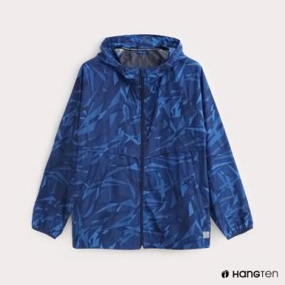 Hang Ten-ThermoContro-男裝迷彩防風外套-蕭青陽設計款-藍