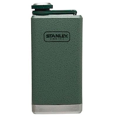 美國Stanley SS經典酒壺236ml 錘紋綠