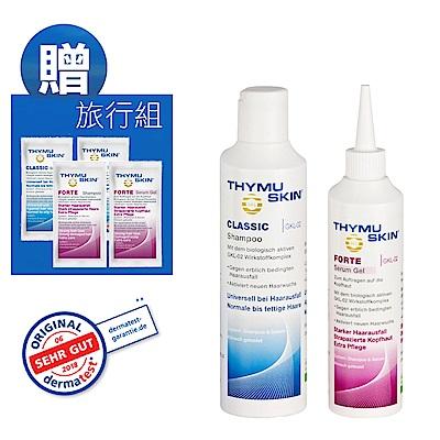 Thymuskin德國欣髮源 經典強效養髮組(洗髮精200ml+精華凝膠200ml)