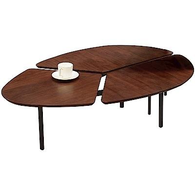 文創集 馬伯斯時尚4尺木紋茶几-120x80x35cm免組
