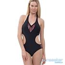 澳洲Sunseeker泳裝性感露腰連身泳衣-黑色