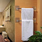 【E.dot】魔力無痕廚浴單桿不鏽鋼抹布/毛巾架