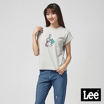 Lee 落肩LEE鑰匙圈T恤/落肩版-灰