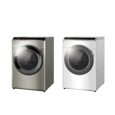 [館長推薦]Panasonic國際牌16公斤 變頻溫水洗脫烘滾筒洗衣機NA-V160HDH-W冰鑽白