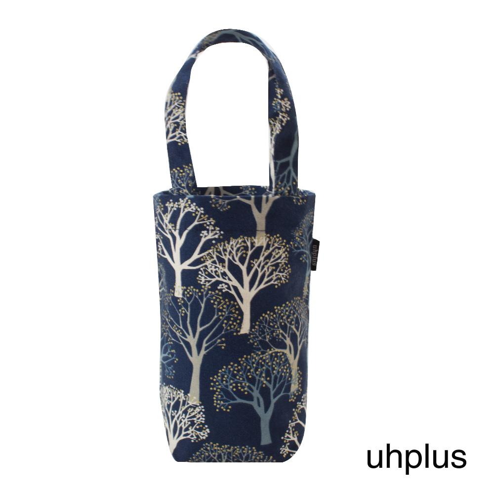 uhplus 隨行環保飲料袋(長版)- 槐樹花(藍)