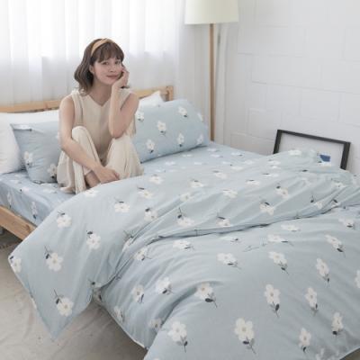 BUHO 雙人加大四件式舖棉兩用被床包組(水冉芳華)