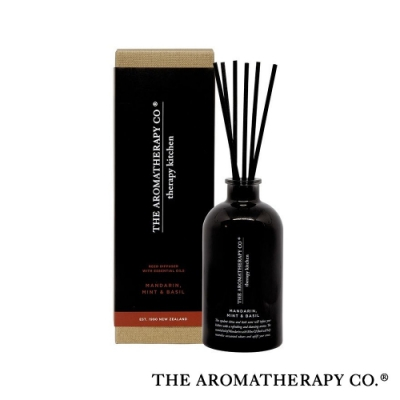 The Aromatherapy Co. 紐西蘭天然香氛 Therapy Kitchen系列 柑橘蘿勒 Mandarin Mint & Basil 250ml 居家擴香