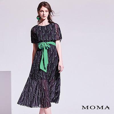 MOMA 植物壓褶長洋裝