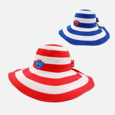 WHY AND 1/2 大帽簷條紋遮陽帽 多色可選