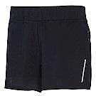 荒野【wildland】女透氣抗UV假兩件運動短褲黑色