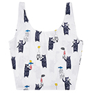 A+ accessories 小清新香甜印花卡通童趣手拎購物袋(3色任選)