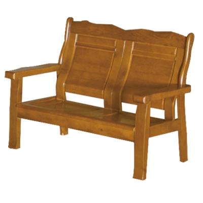 綠活居 瑟德亞 雅緻風實木二人座沙發椅-123x74.5x96.5cm免組