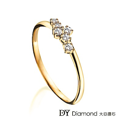 DY Diamond 大亞鑽石 L.Y.A輕珠寶 18黃K金 時尚鑽石線戒