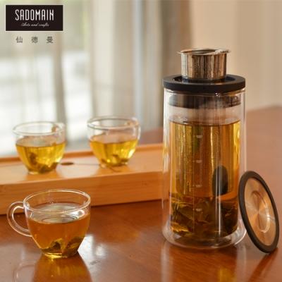仙德曼 SADOMAIN 旅行咖啡泡茶組 一壺三杯(450ml/壺+80ml/杯)