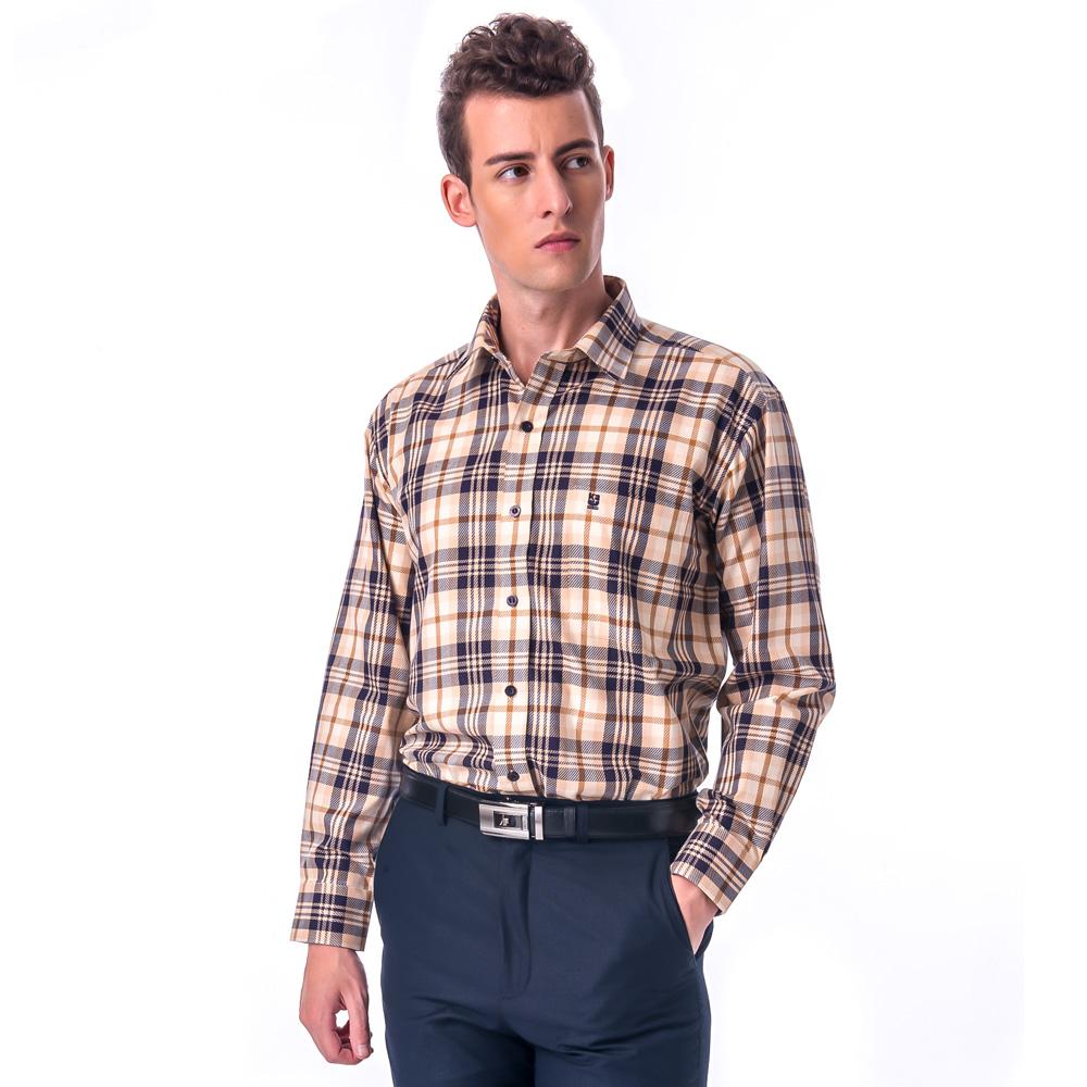 【金安德森】經典大格紋純棉長袖襯衫