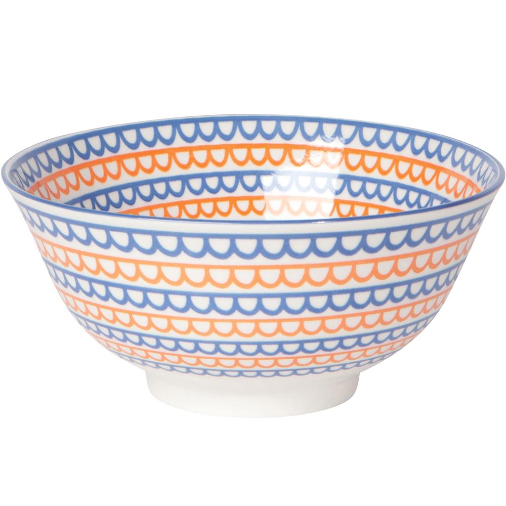 《NOW》圖騰餐碗(彩帶橘藍)