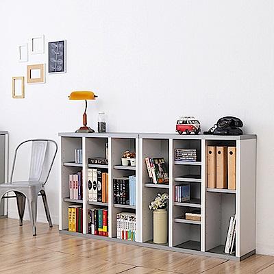 兩入一組《Accessco》日系雙色九格厚板櫃(87x30x90cm)