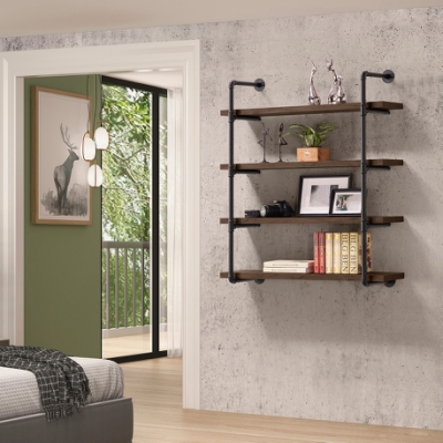 美傢工業風focus水管四層寬壁架/DIY自行組合產品