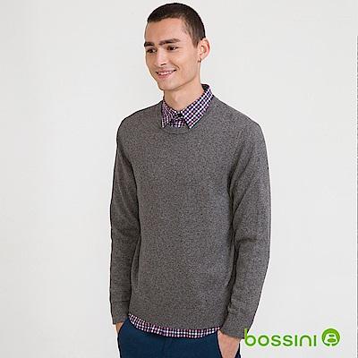 bossini男裝-圓領針織線衫01霧灰