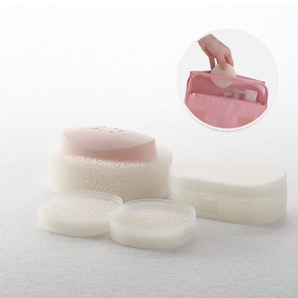 DIDA 簡約攜帶式速乾海棉皂盒組-1組2入