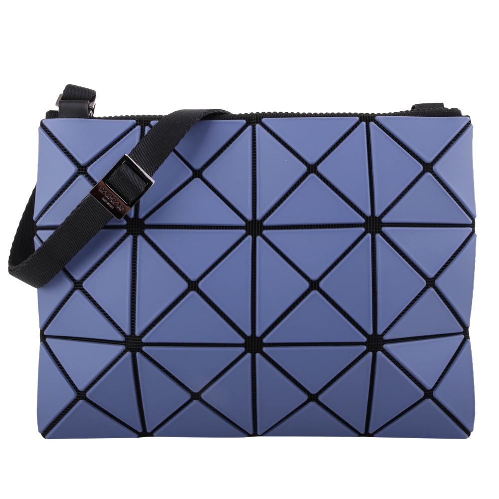 ISSEY MIYAKE  BAOBAO透光幾何方格3x4斜背扁包/藍紫X薰衣紫