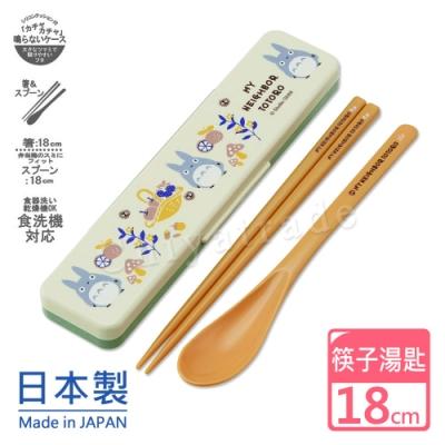 宮崎駿龍貓Totoro 日本製環保筷子+湯匙組18CM-秋果豐收野餐趣