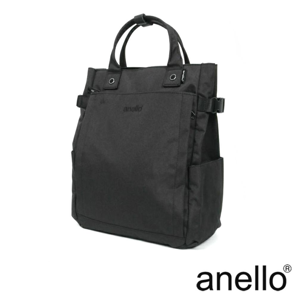 anello 實用機能性多口袋後背包 黑色
