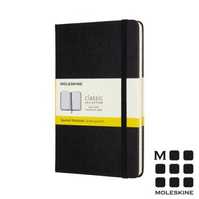 MOLESKINE 經典硬殼筆記本(M型)-方格黑