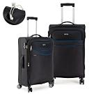 DF travel - 紀錄時光可充電可加大24+28吋防潑水布面行李箱