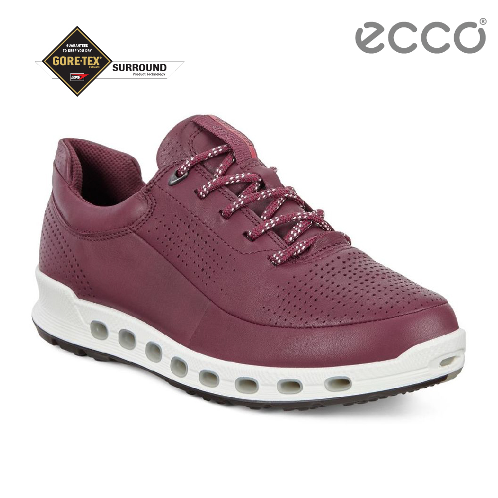 ECCO COOL 2.0 LADIES 360度環繞防水休閒運動鞋 女-酒紅