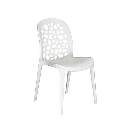 LOVE樂芙-點點椅白色-寬42深45公分高84公分