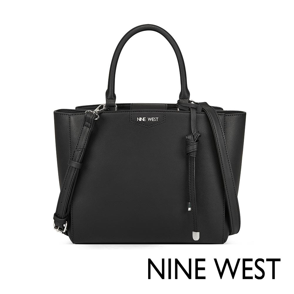 NINE WEST JAMAE扭結吊飾通勤包-黑色(518706)