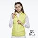 【Lynx Golf】女款防風保暖鋪棉素面拉鍊胸袋設計無袖背心-黃色 product thumbnail 2