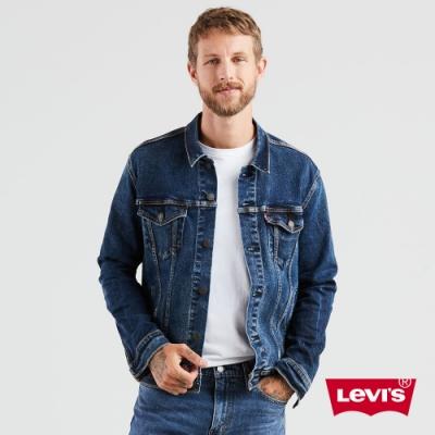 Levis 男款 牛仔外套 Type3經典修身版型 深藍水洗 彈性布料