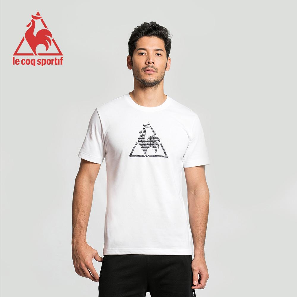 le coq sportif 法國公雞牌經典圓領LOGO印花短袖T恤 男-白