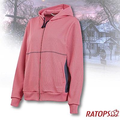 瑞多仕 女款 連帽保暖夾克_DB5947 淺桃粉紅/憂鬱藍色