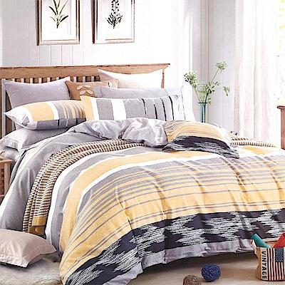Carolan-黃金山脈  台灣製天絲萊賽爾雙人六件式床罩組