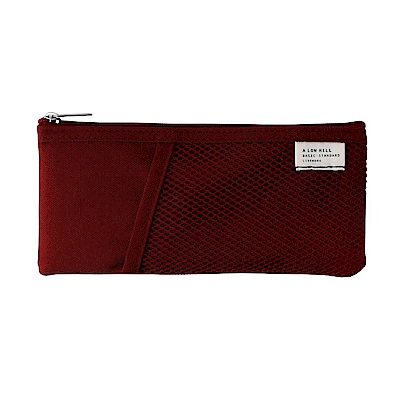 Livework 休閒風雙層對摺收納筆袋V2-覆盆莓紅