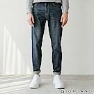 GIORDANO 男裝基本款中腰錐形牛仔褲 - 95 深藍