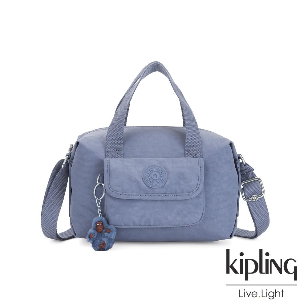 Kipling 氣質粉嫩藍波士頓手提兩用包-BRYNNE