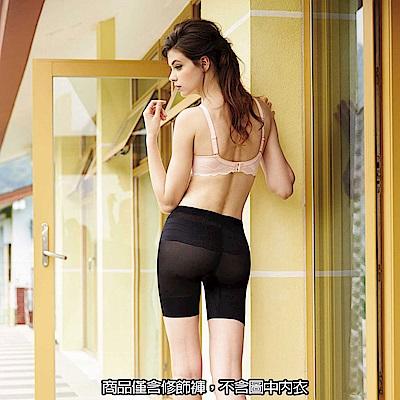 曼黛瑪璉-2014AW 中腰中管無痕修飾褲M-XL(黑)